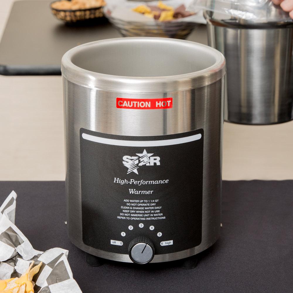 Stainless Steel Food Warmers ~ Star rw qt stainless steel food warmer v w