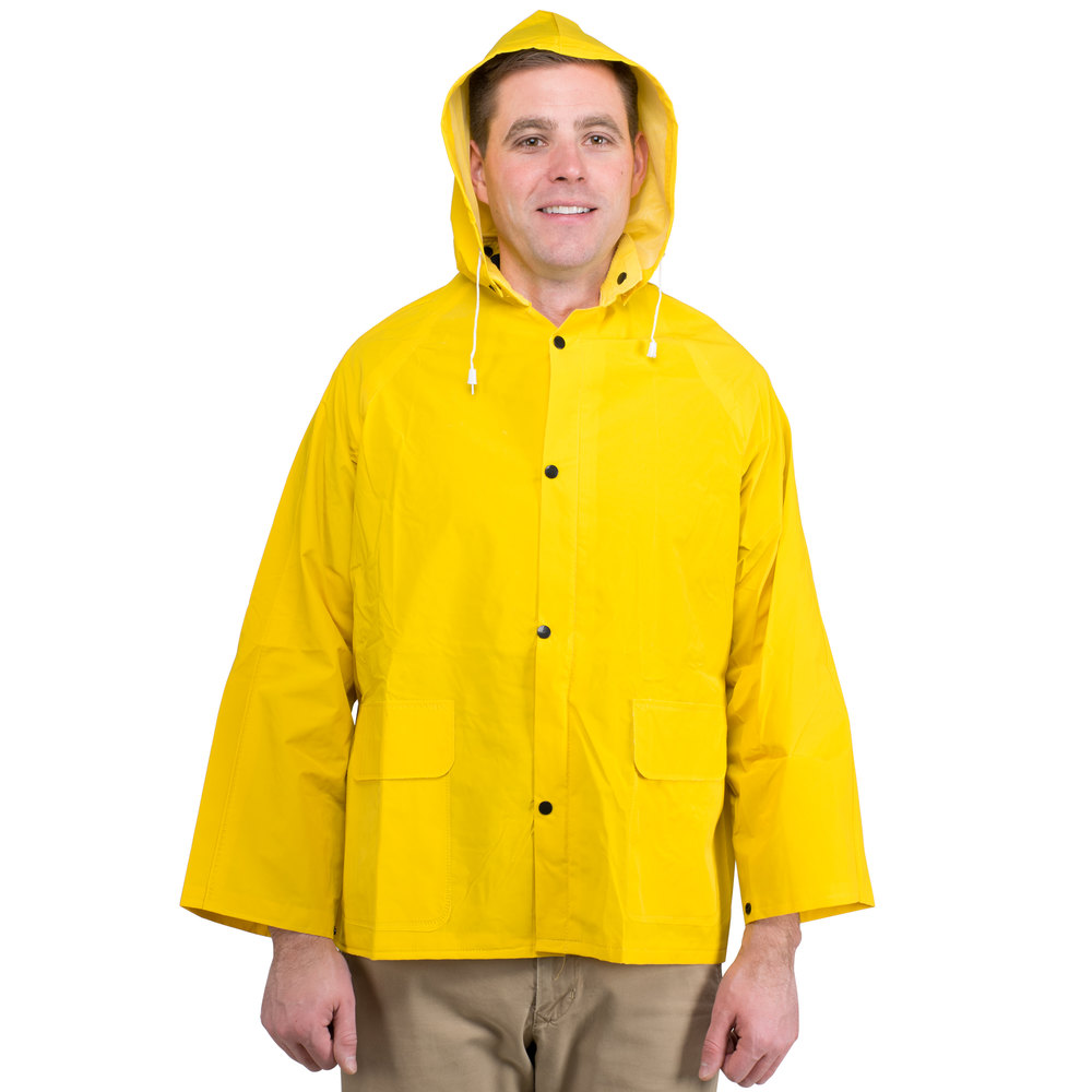 We carry yellow, orange, reflective, high visibility and ANSI class rated rain suits. The rain suits are available in various sizes, styles, and colors to suit your needs. Optional styles include 2-piece and 3-piece suits, rain coveralls, hoods, and weatherproof shells.