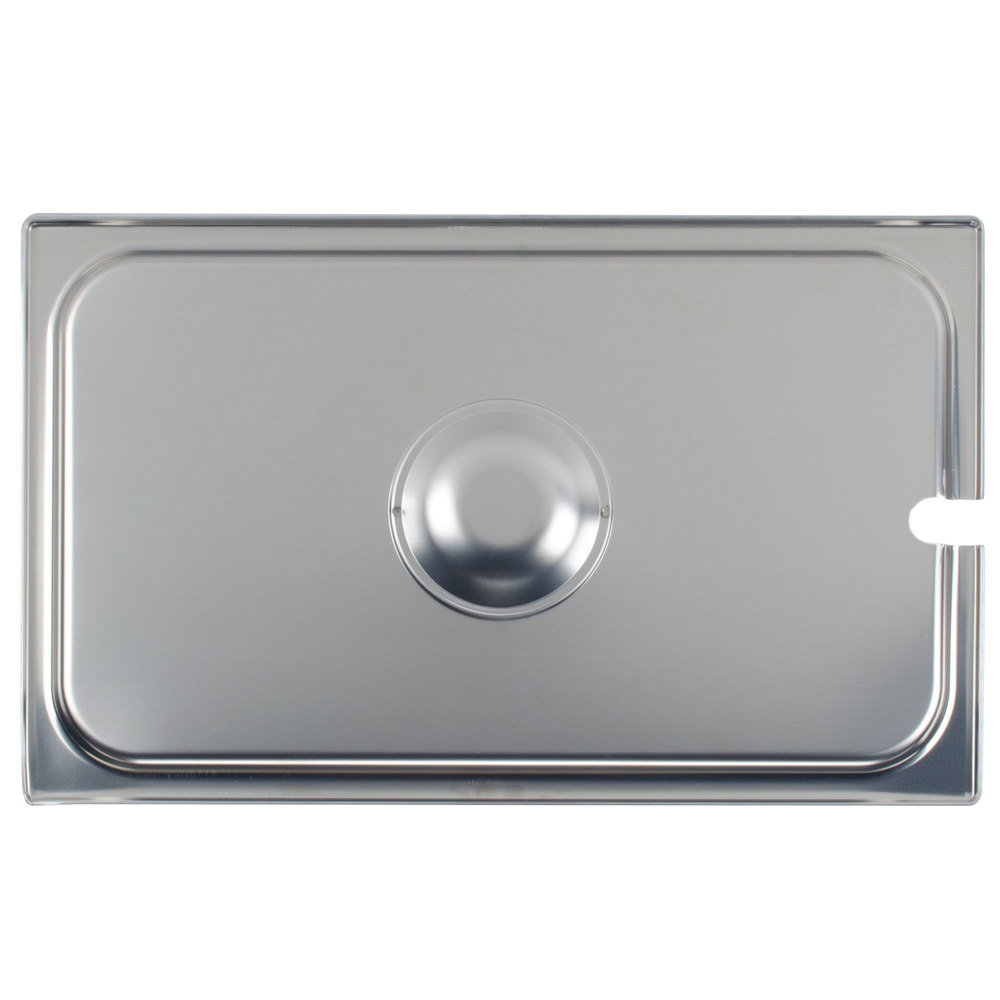 Vollrath 75210 Super Pan V Full Size Slotted Stainless Steel Steam Table / Hotel Pan Cover