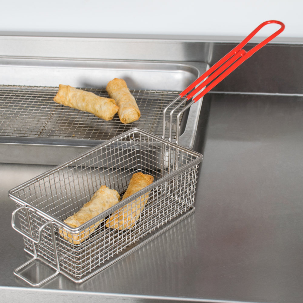 "Grindmaster 08050 9 1/2"" x 5 1/8"" x 3 1/2"" Full Size Fryer Basket with Front Hook"