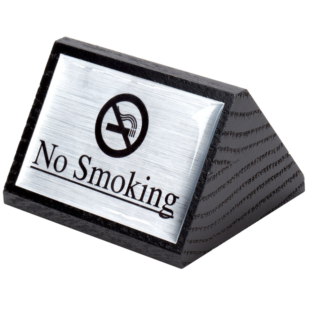 American Metalcraft Signs7 Black Wood Quot No Smoking Quot Sign