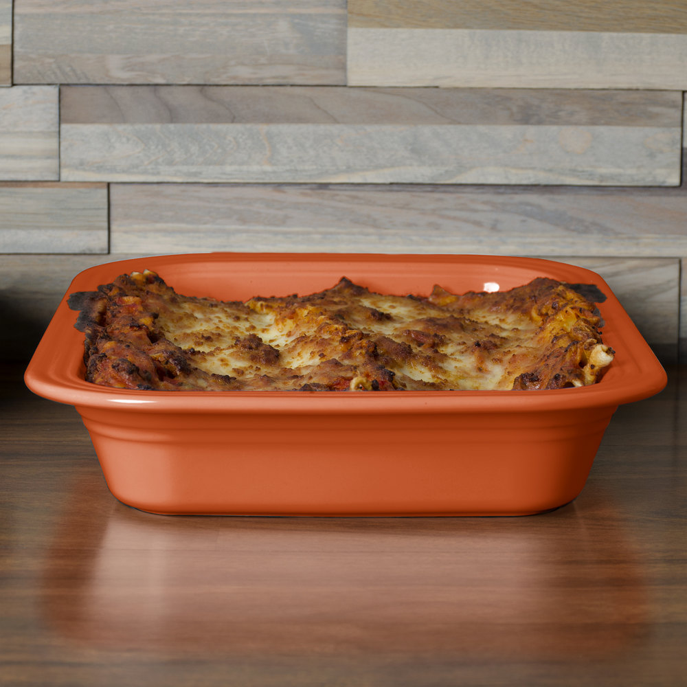 "Homer Laughlin 963334 Fiesta Paprika 9"" x 13"" Rectangular Baker - 2/Case"