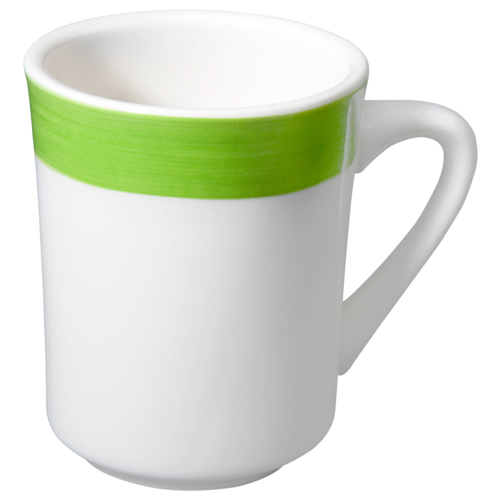 CAC R-17-G Rainbow Tierra Coffee Mug 8.5 oz. - Green - 36/Case