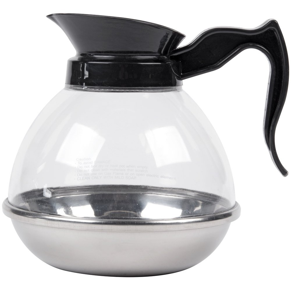 2 Qt Coffee Decanter With Stainless Steel Bottom
