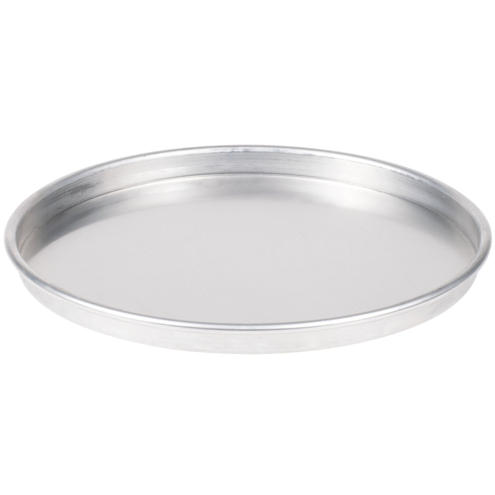 "American Metalcraft HA4014 14"" Straight Sided Pizza Pan - Heavy Weight Aluminum"