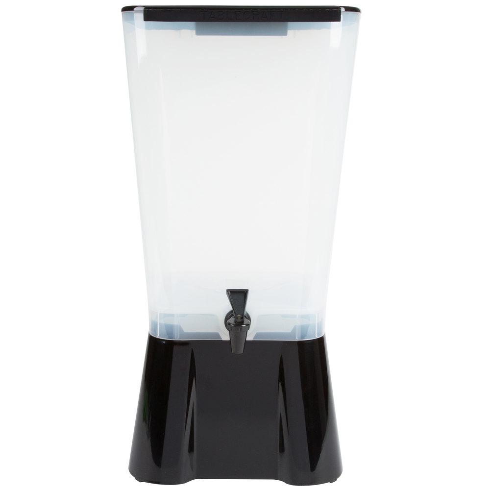 Tablecraft 1053 5 Gallon Black Beverage Juice Dispenser