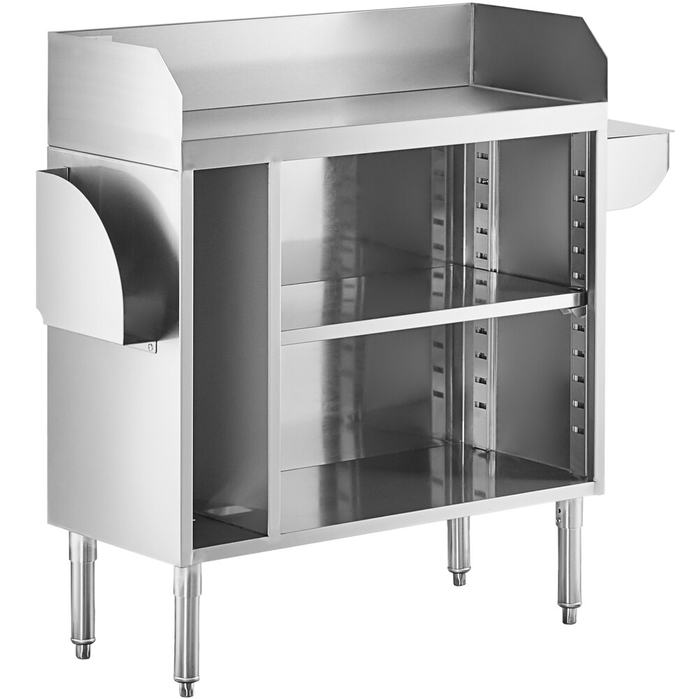 Regency 36 inch Stainless Steel Bussing / Waitress Station with Pan Holder