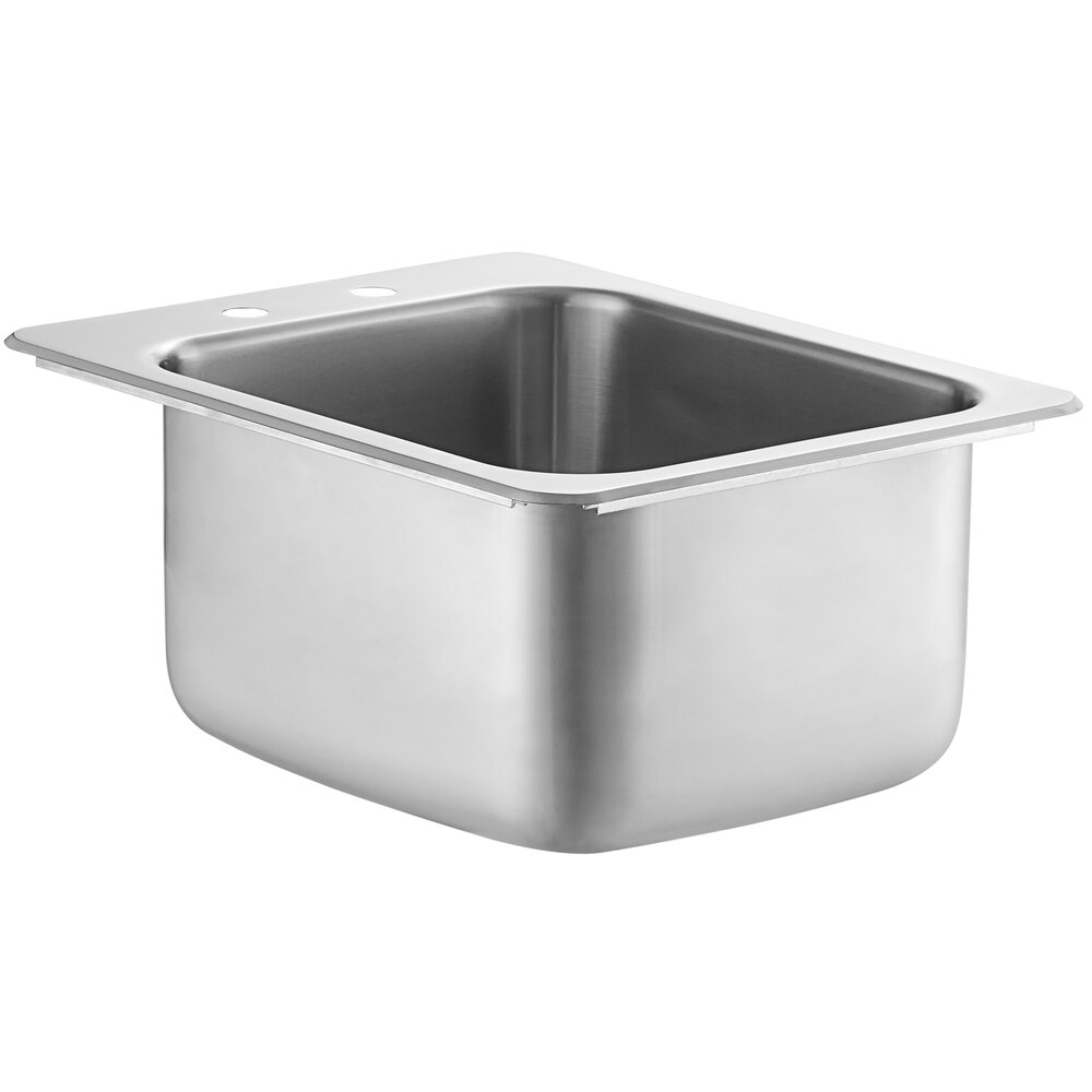 Regency 14 inch x 16 inch x 10 inch 20 Gauge Stainless Steel One Compartment Drop-In Sink