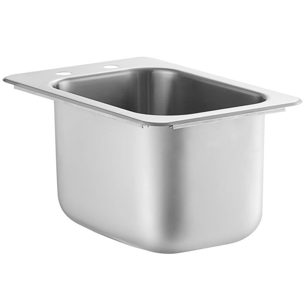 Regency 10 inch x 14 inch x 10 inch 20 Gauge Stainless Steel One Compartment Drop-In Sink