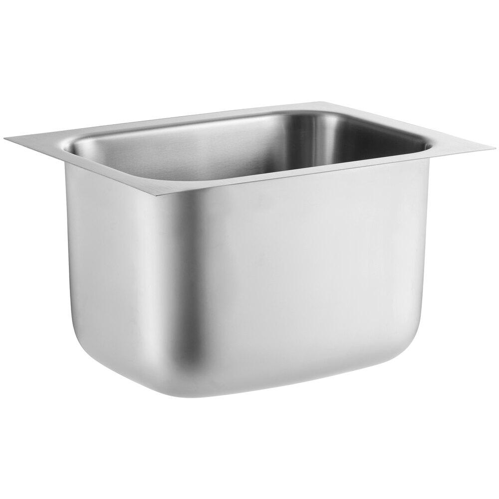 Regency 10 inch x 14 inch x 10 inch 20 Gauge Stainless Steel One Compartment Undermount Sink