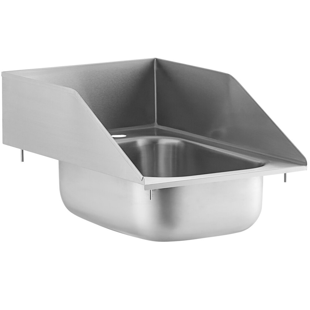 Regency 10 inch x 14 inch x 5 inch 20 Gauge Stainless Steel One Compartment Drop-In Sink with Side Splashes