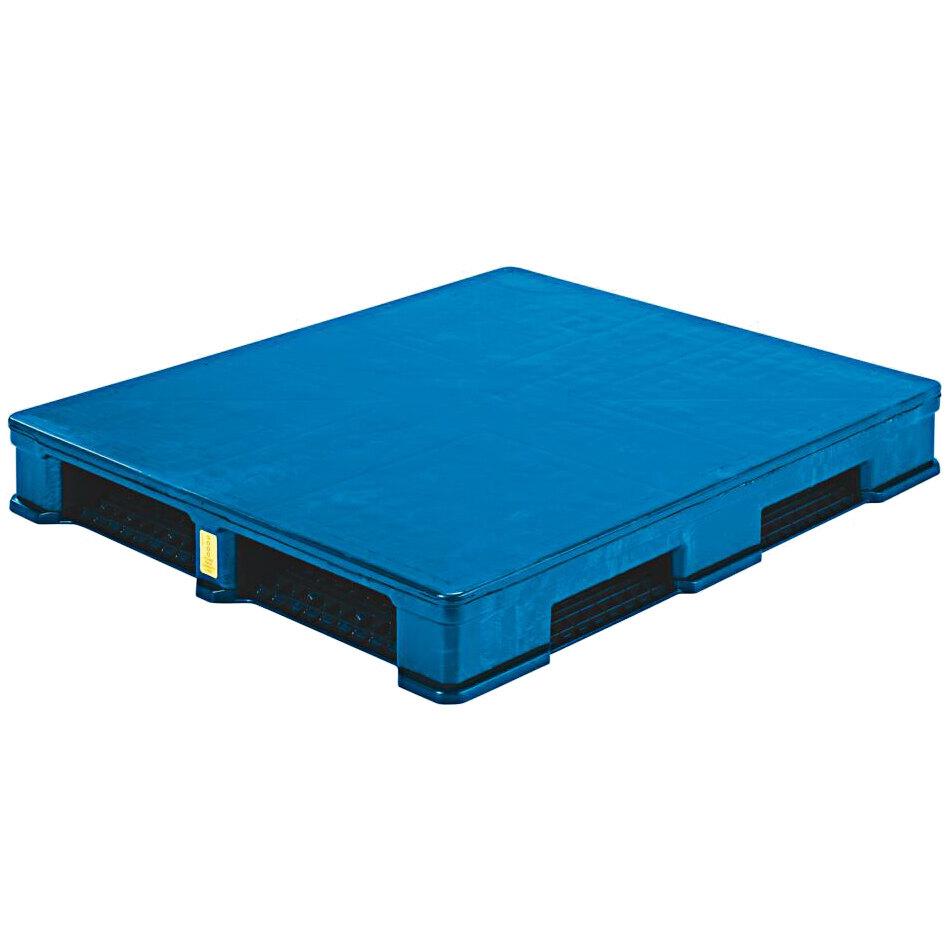 Regency RII CIISC 48 inch x 40 inch Blue Polyethylene Rackable Pallet