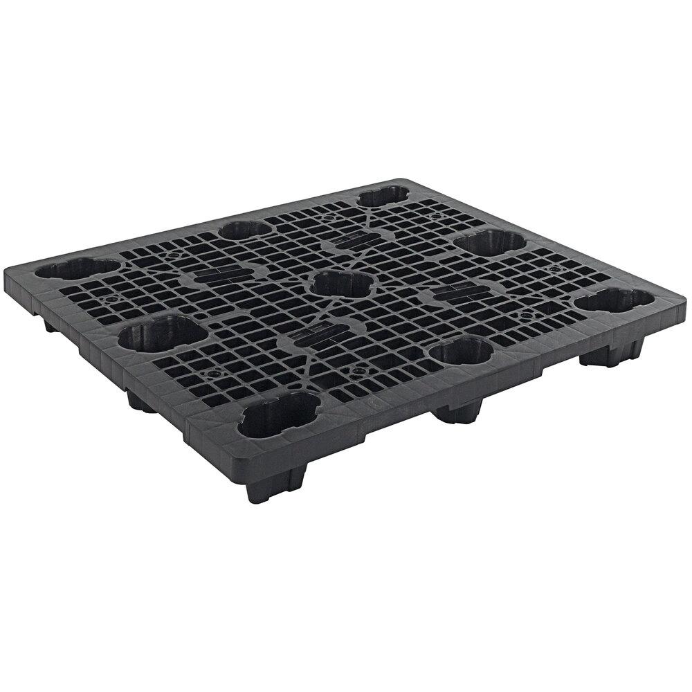 Regency XpressPal 48 inch x 40 inch Black Polyethylene Economy Duty Nestable Pallet