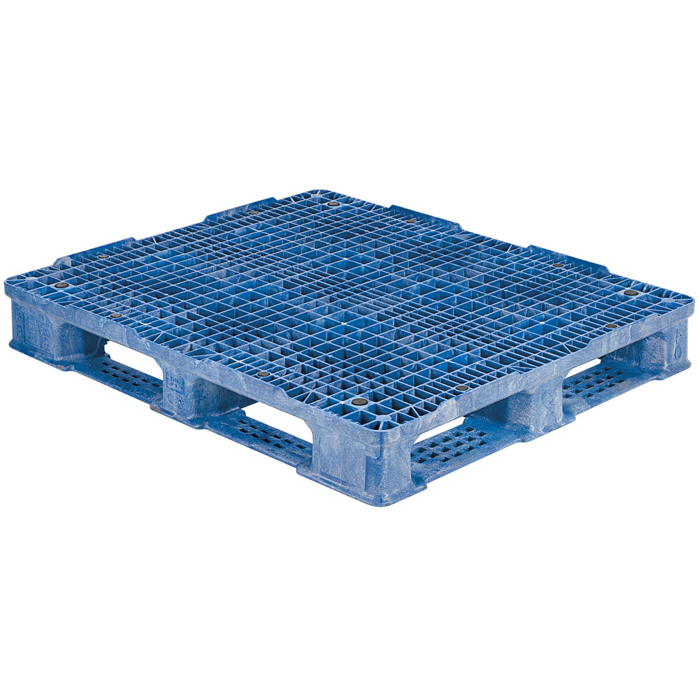 Regency RackoCell 48 inch x 40 inch Blue Polyethylene Rackable Pallet