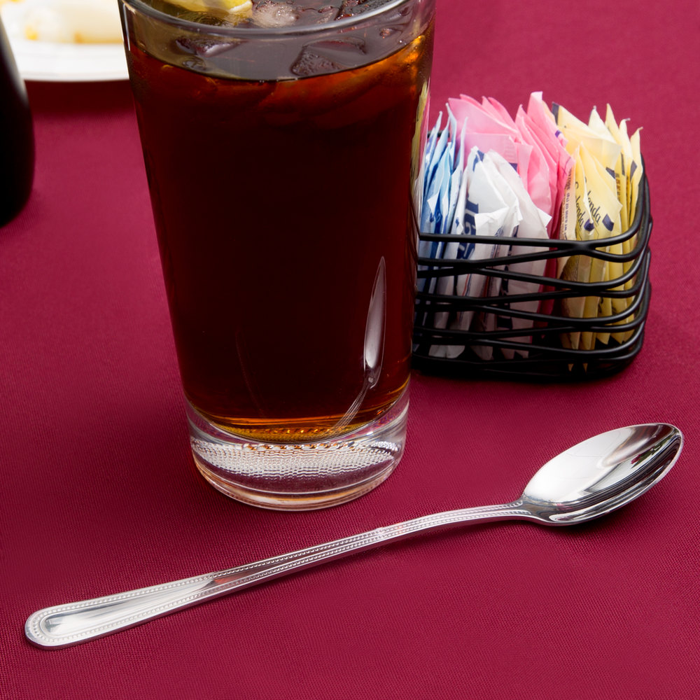 Prima Flatware Stainless Steel Iced Tea Spoon - 36/Pack