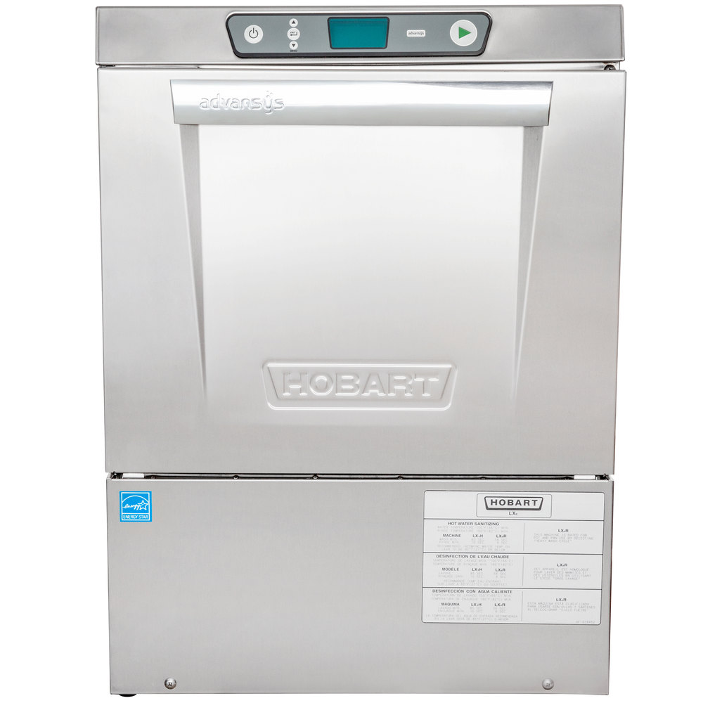 Hobart LXeR-2 Advansys Undercounter Dishwasher - Energy Recovery Hot Water Sanitizing, 120 / 208-240V