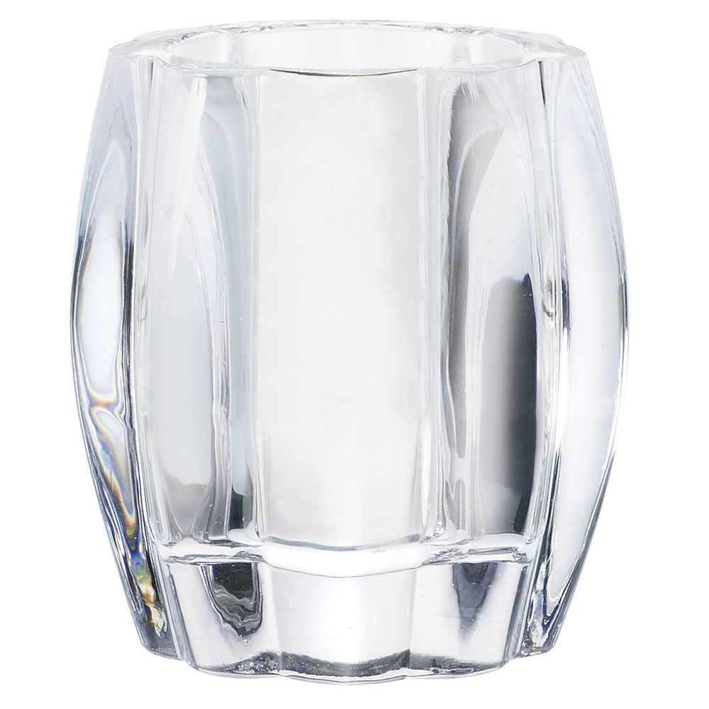 "Sterno Products 80224 4"" Ribbed Glass Round Liquid Candle Holder"
