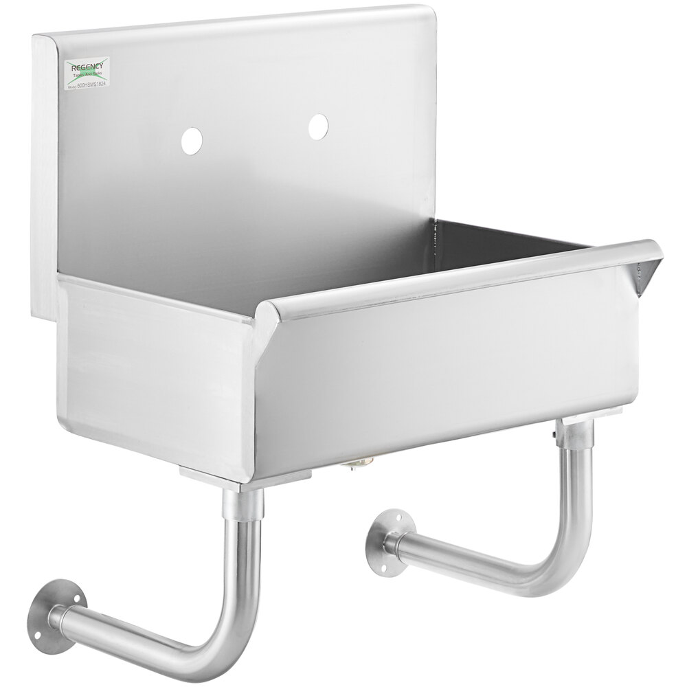 Regency 24 inch x 17 1/2 inch Utility Hand Sink for 1 Wall Mounted Faucet
