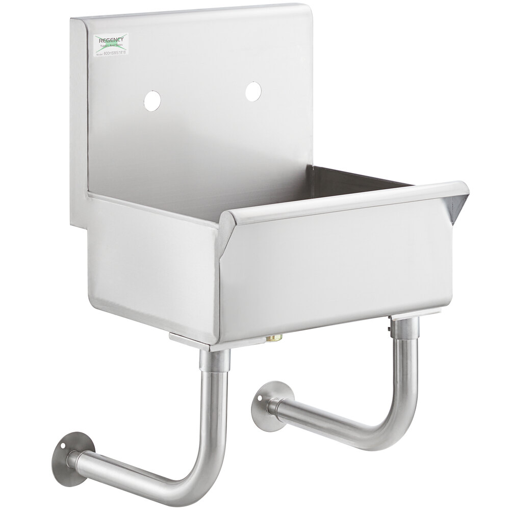 Regency 18 inch x 17 1/2 inch Utility Hand Sink for 1 Wall Mounted Faucet