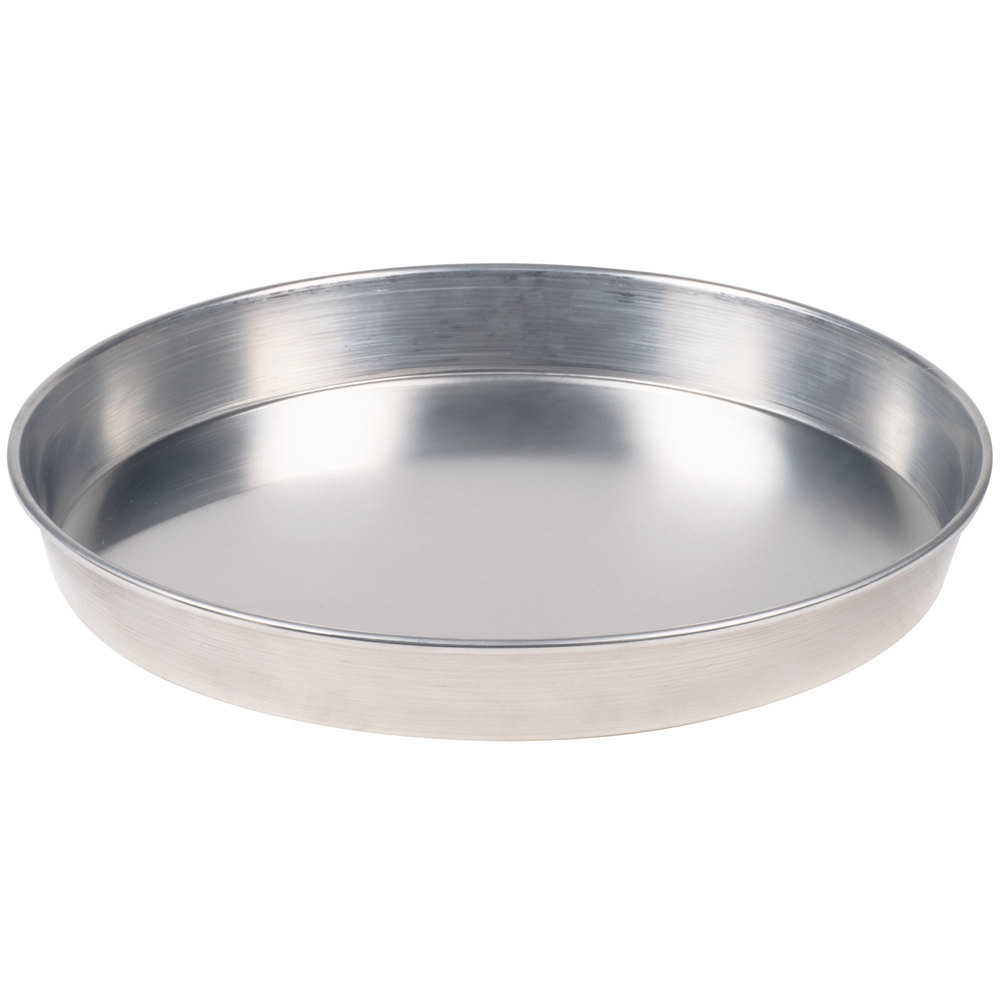 "American Metalcraft HA90142 14"" x 2"" Heavy Weight Aluminum Tapered / Nesting Pizza Pan"