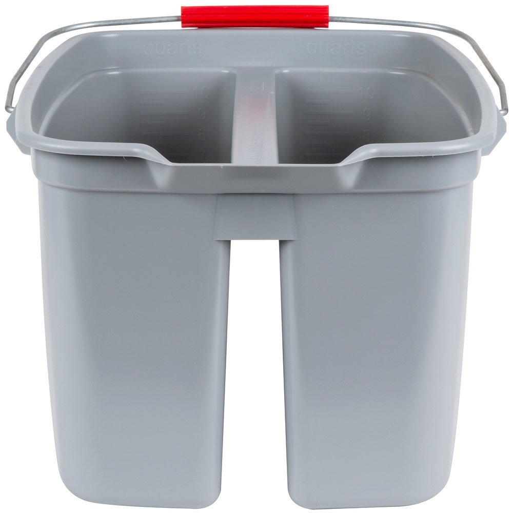 Rubbermaid 2628 19 Qt. Divided Gray Bucket (FG262888GRAY)