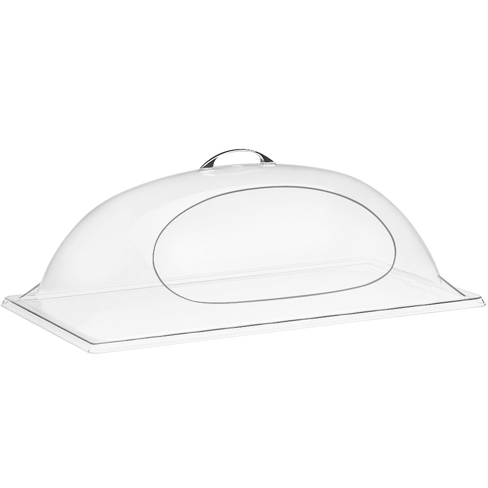 "Cal-Mil 324-10 Classic Clear Dome Display Cover with Single Side Opening - 10"" x 12"" x 4 1/2"""