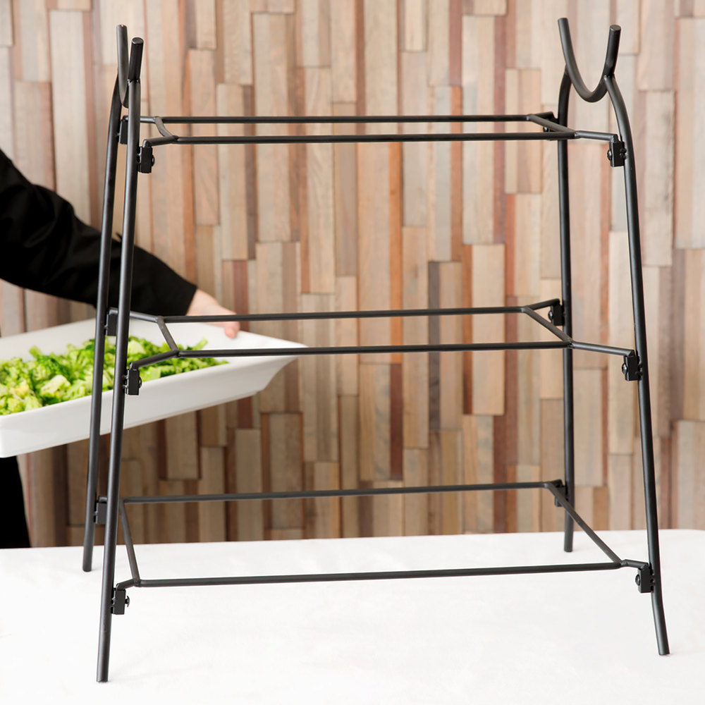 American Metalcraft IS14 Three-Tier Rectangular Display Stand