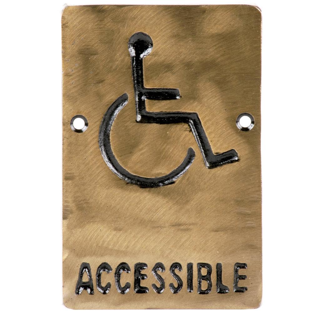 Tablecraft 465632 Ada Handicap Accessible Sign Bronze 6