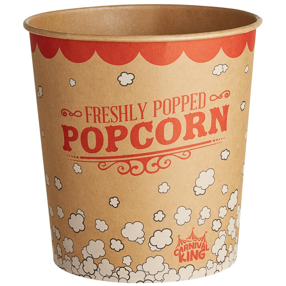 Carnival King Kraft 130 oz. Popcorn Bucket - 25/Pack