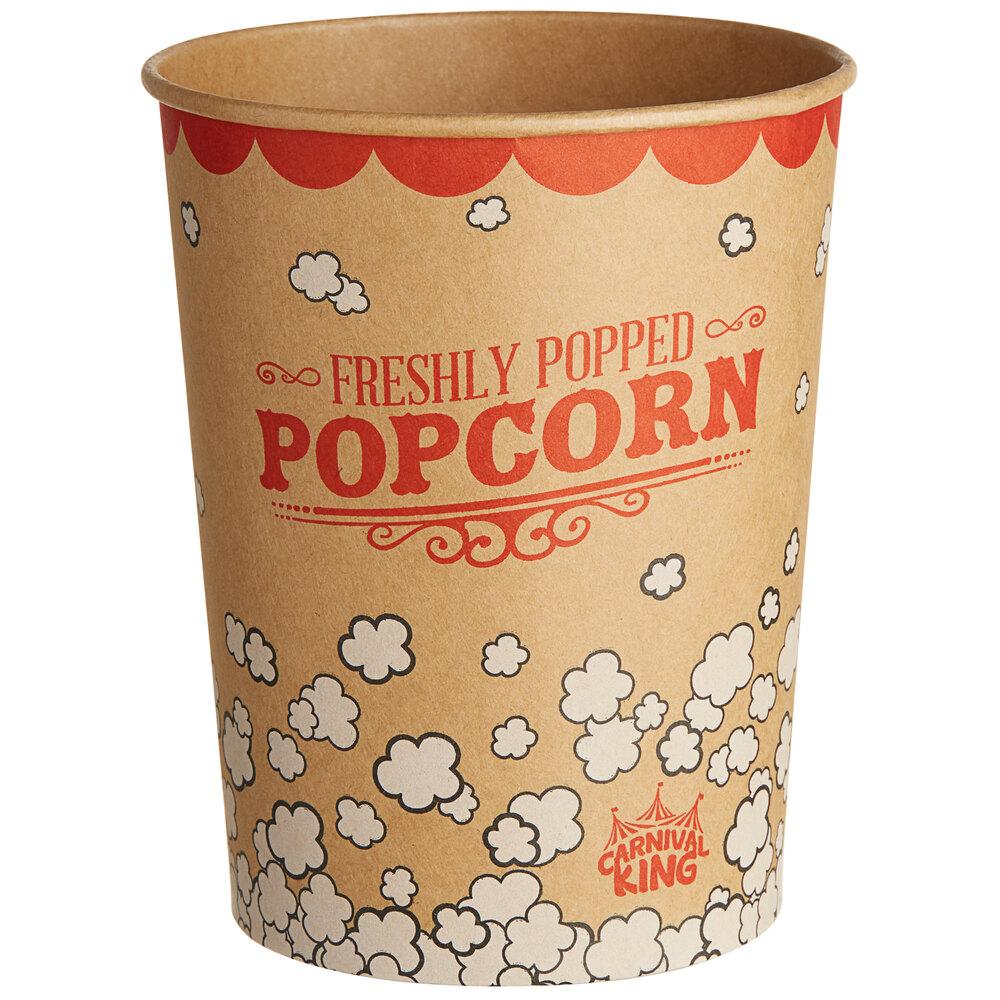 Carnival King Kraft 32 oz. Popcorn Cup - 500/Case