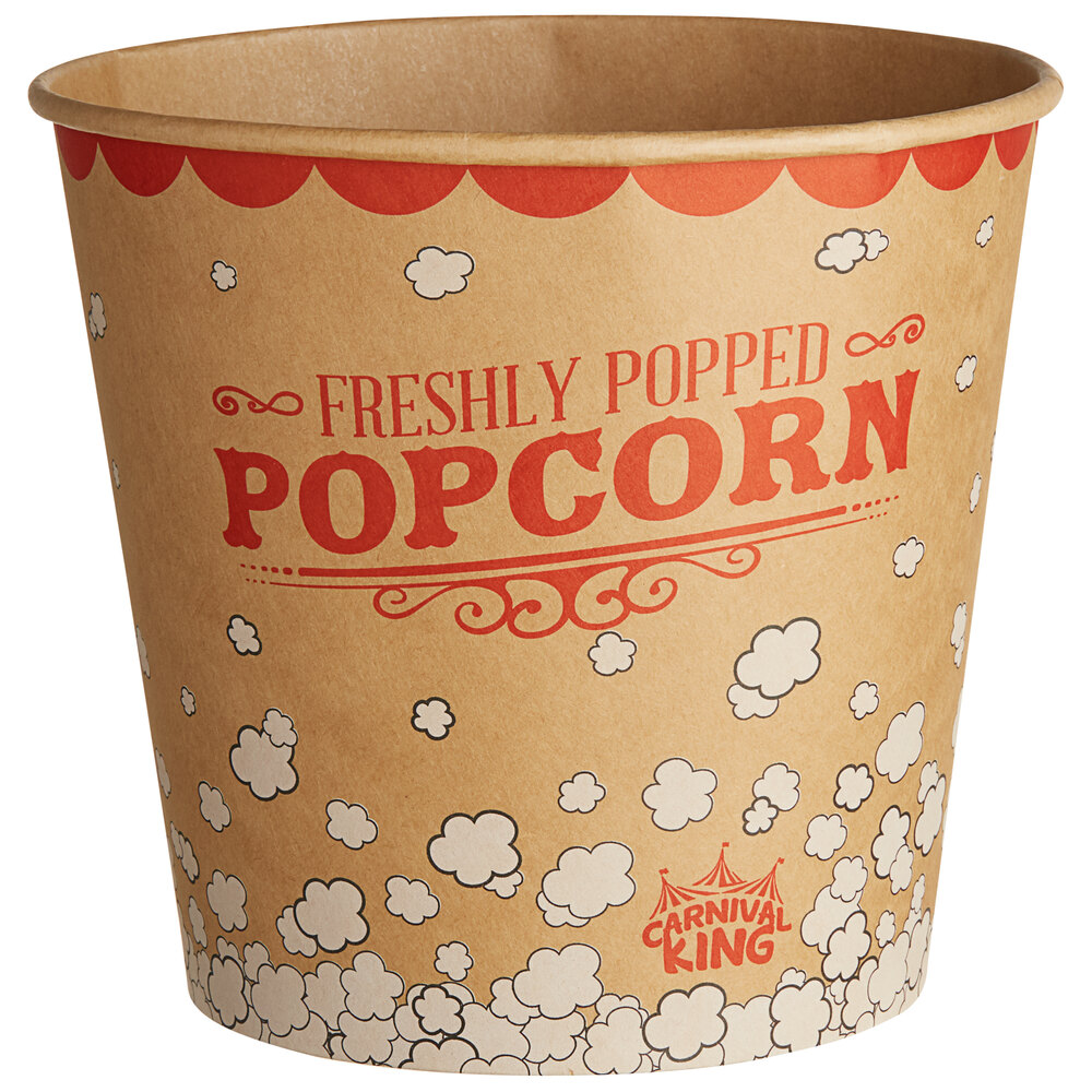Carnival King Kraft 170 oz. Popcorn Bucket - 25/Pack