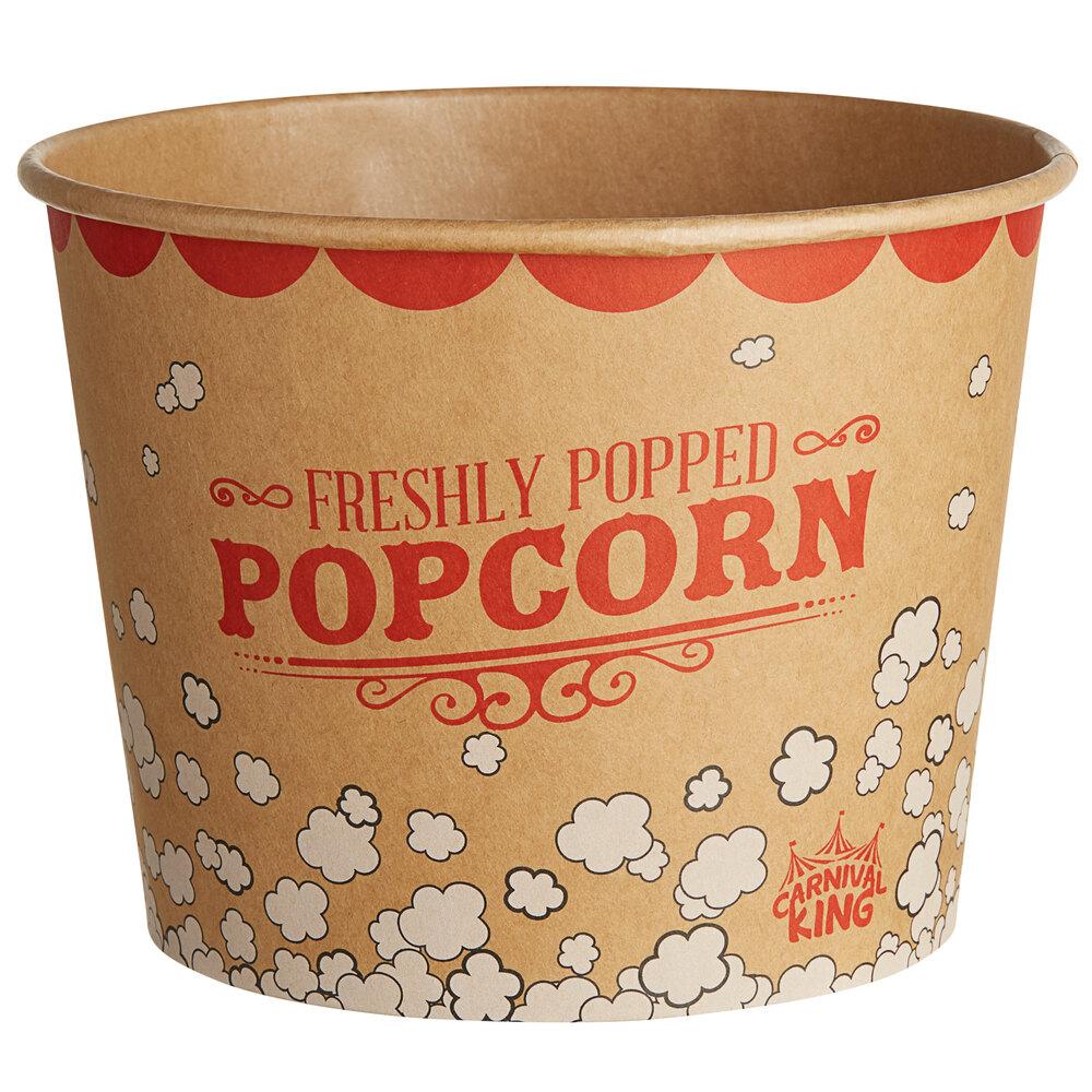 Carnival King Kraft 85 oz. Popcorn Bucket - 25/Pack