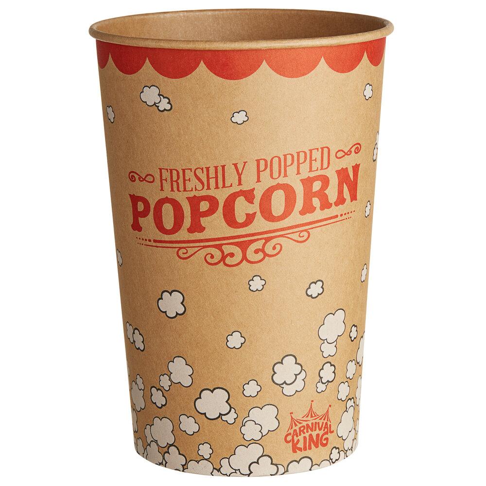 Carnival King Kraft 64 oz. Popcorn Bucket - 45/Pack