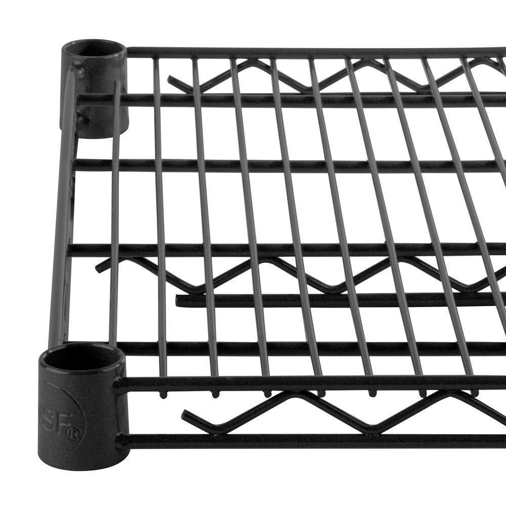 Regency 21 inch x 60 inch NSF Black Epoxy Wire Shelf