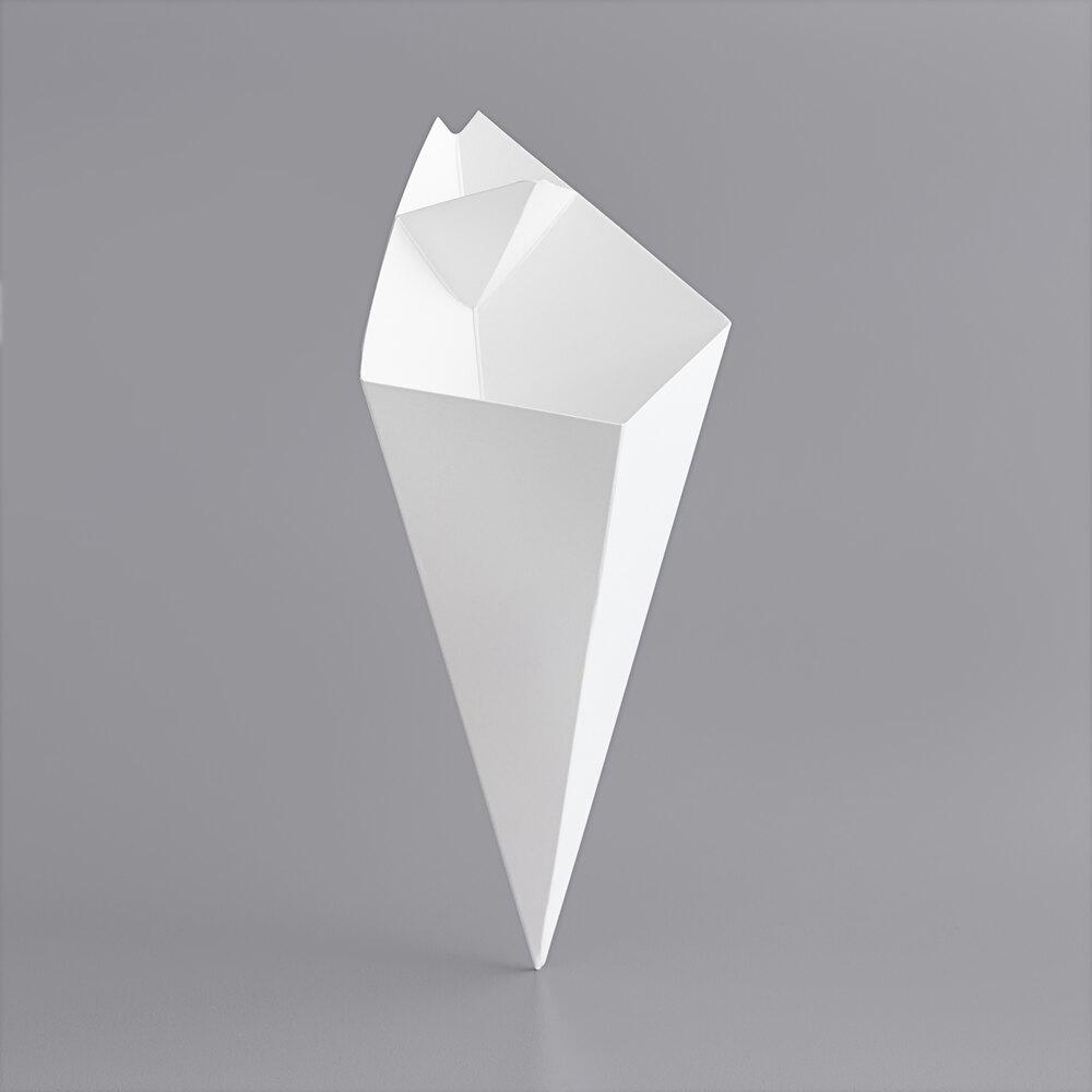 Carnival King 10 oz. White Square Cardboard Fry Cone - 500/Case