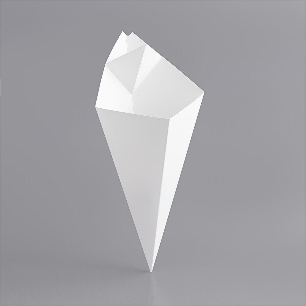 Carnival King 20 oz. White Square Cardboard Fry Cone - 500/Case