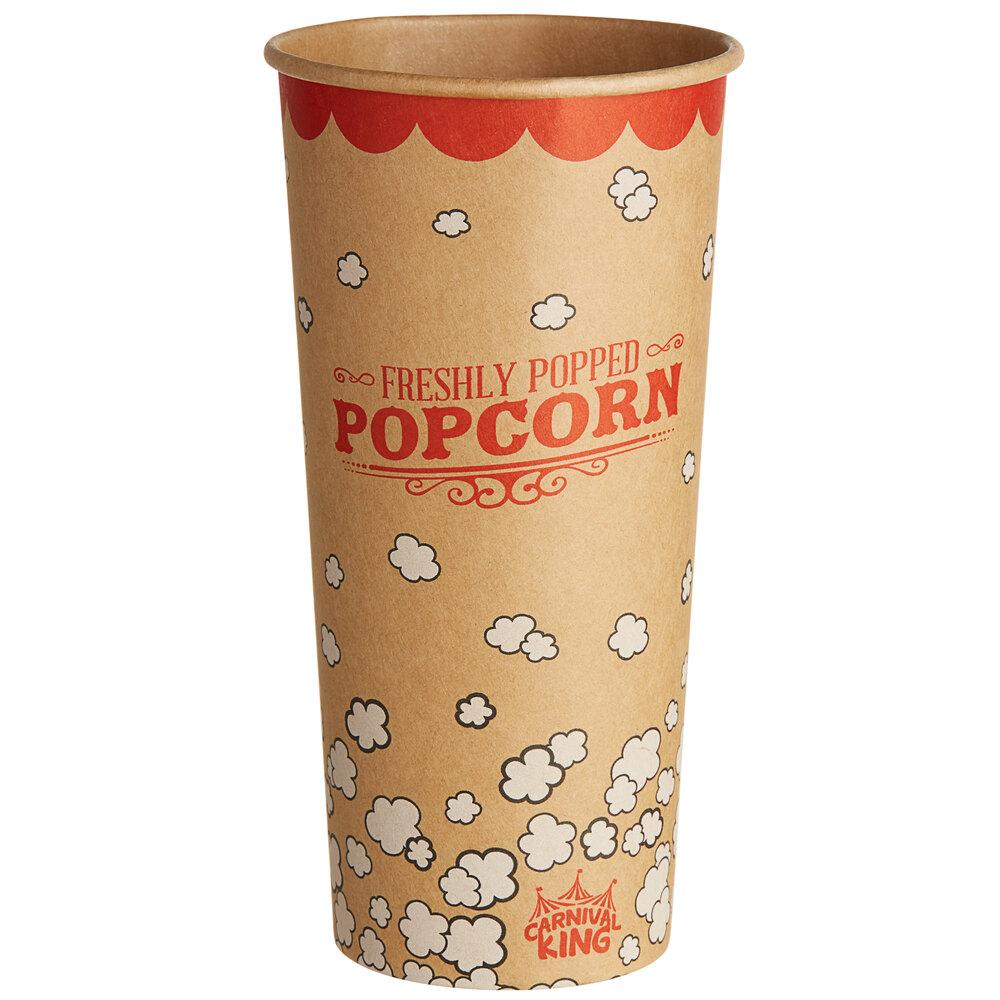 Carnival King Kraft 24 oz. Popcorn Cup - 50/Pack