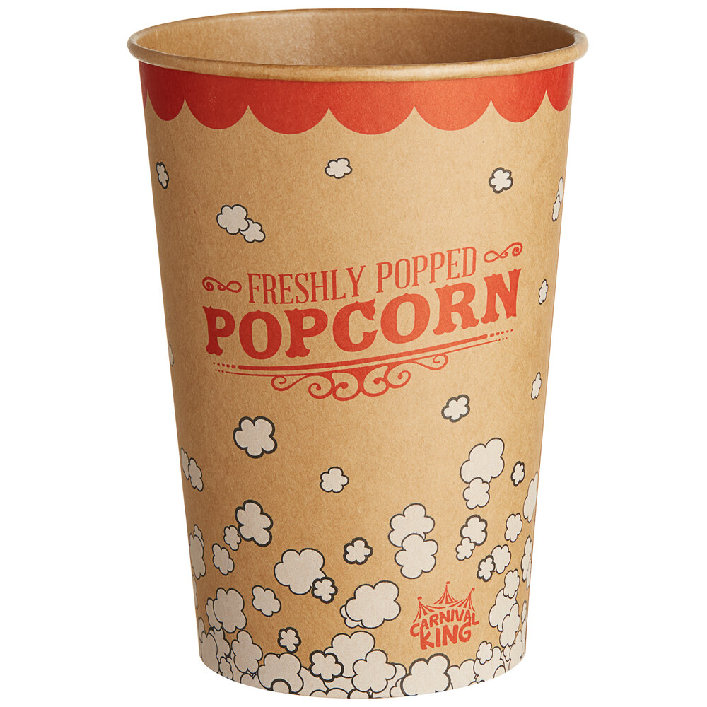 Carnival King Kraft 46 oz. Popcorn Cup - 50/Pack