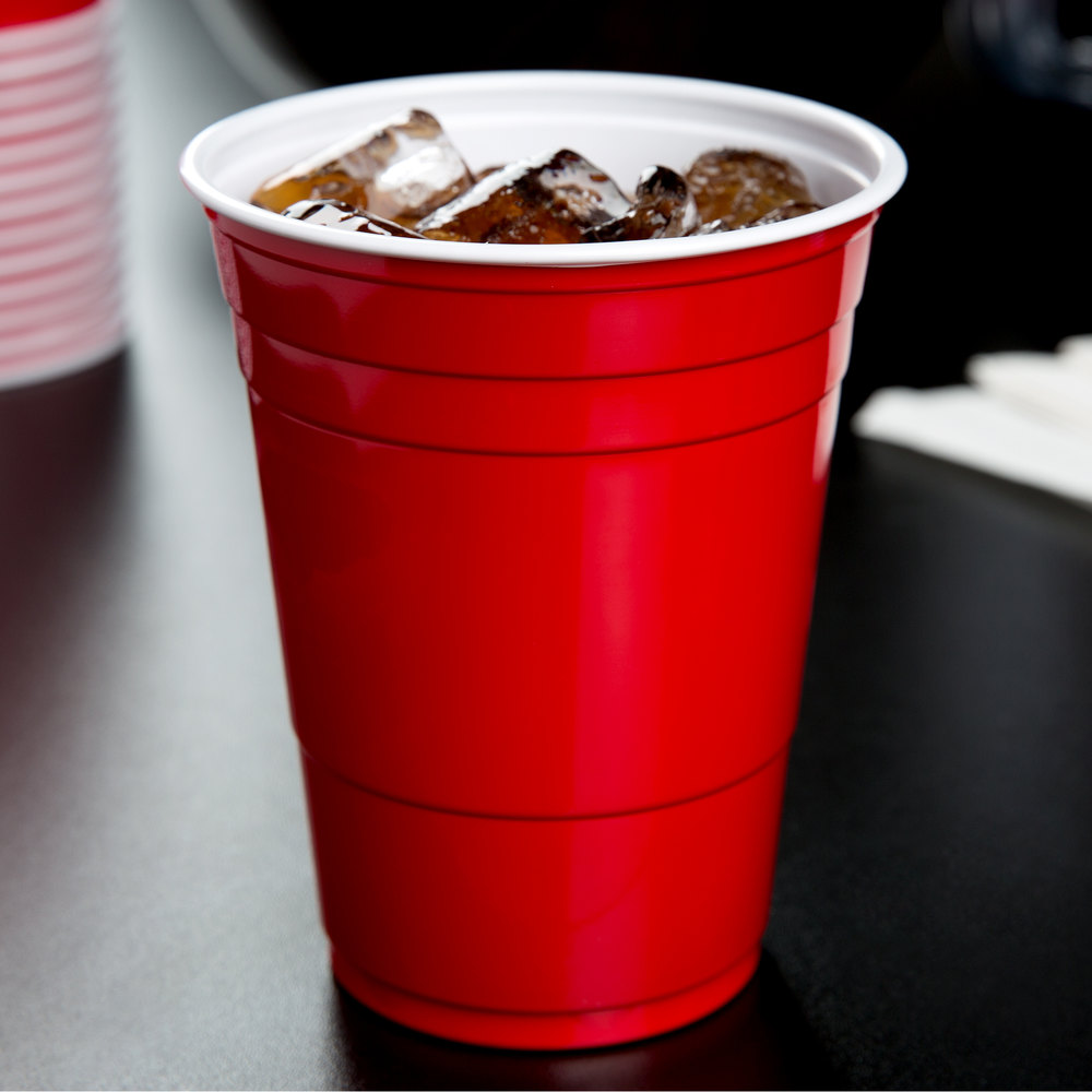 Dart Solo P16R 16 oz. Red Plastic Cup - 1000/Case