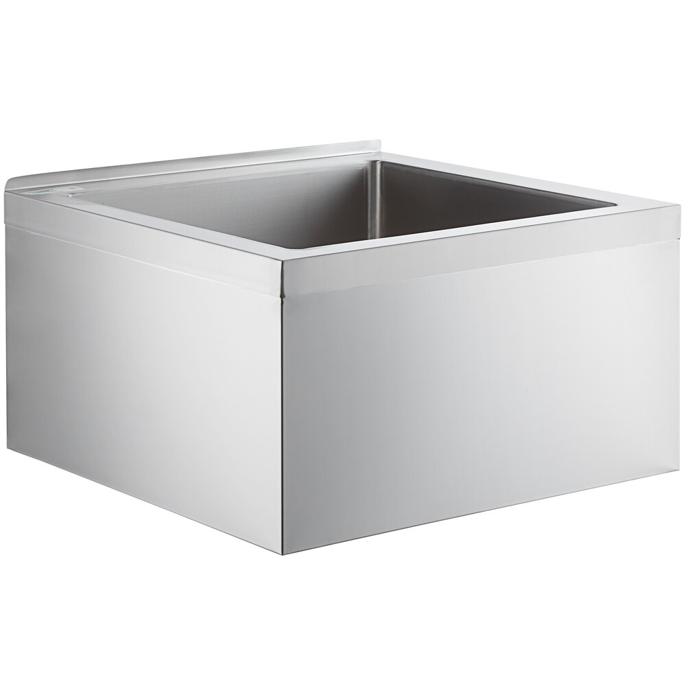 Regency 16-Gauge Stainless Steel One Compartment Floor Mop Sink - 24 inch x 24 inch x 12 inch Bowl