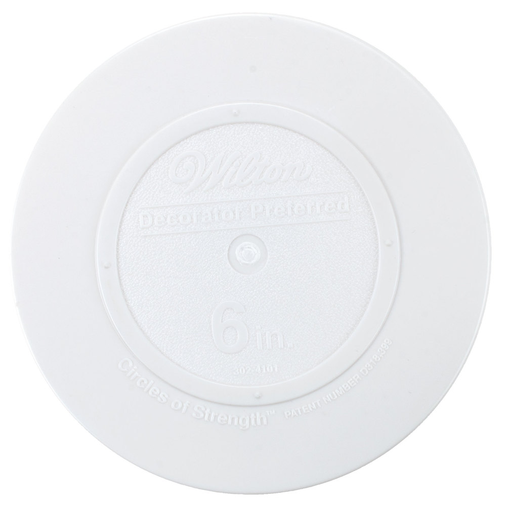 Wilton 302-4101 Decorator Preferred Round Smooth Edge Cake Separator Plate - 6""