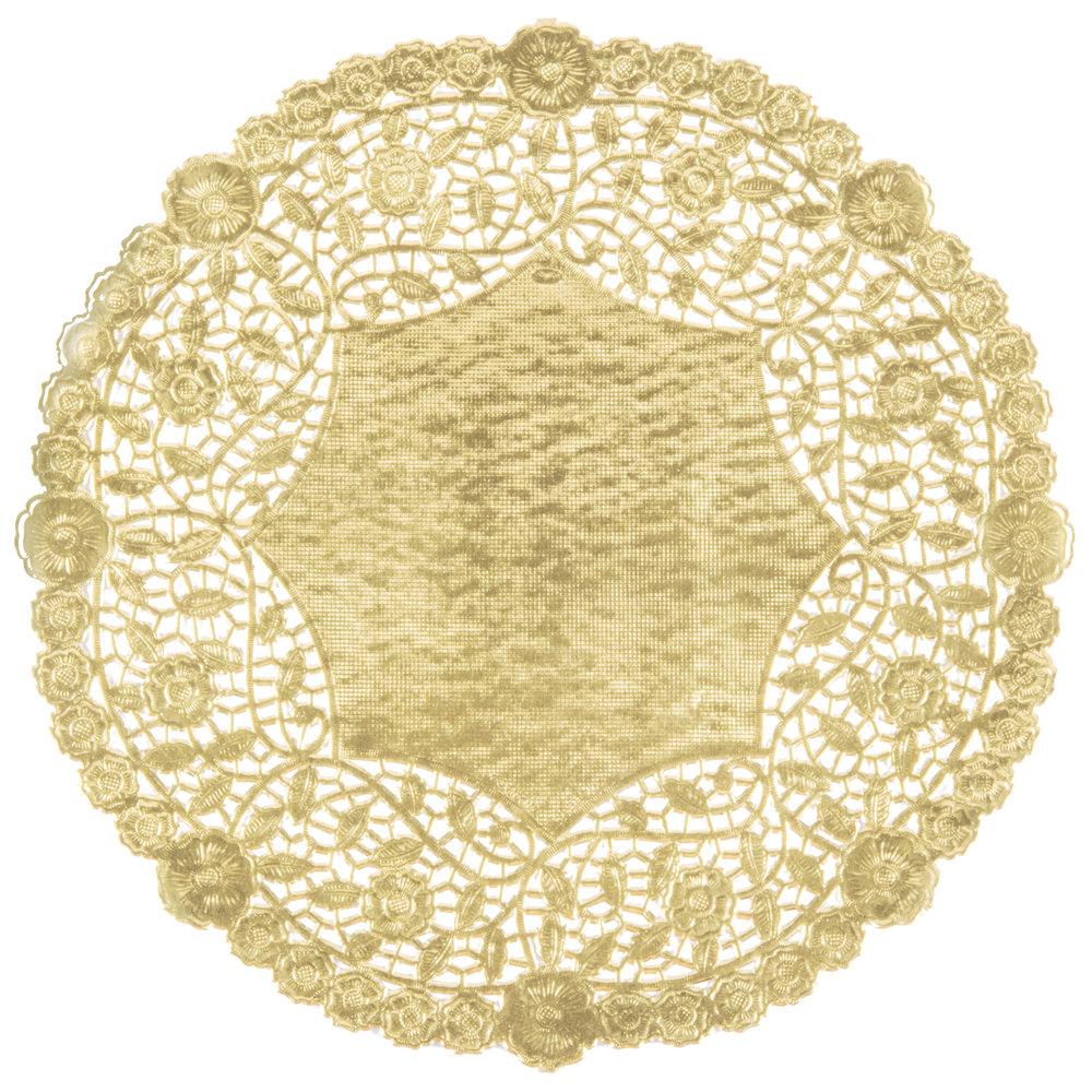 12 Quot Gold Foil Lace Doily 500 Case