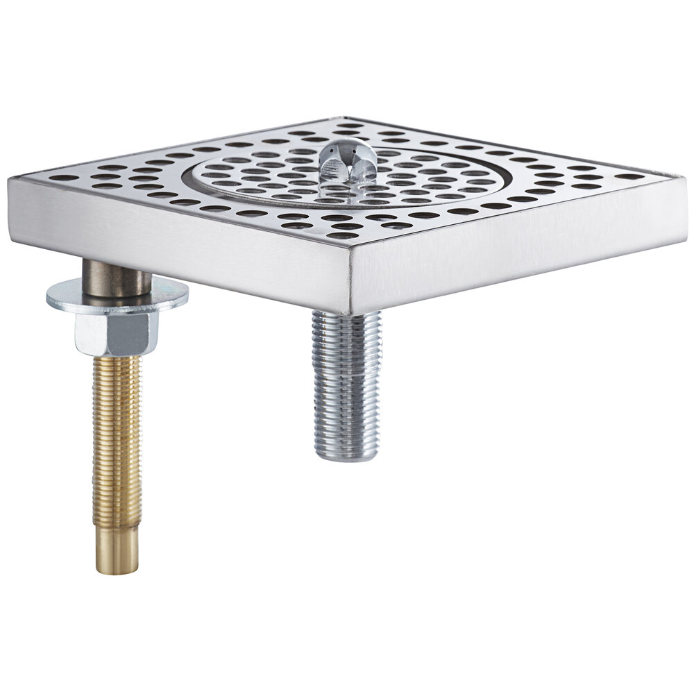 Regency 600BDR6SR 6 inch Stainless Steel Surface Mount Beer Drip Tray with Rinser