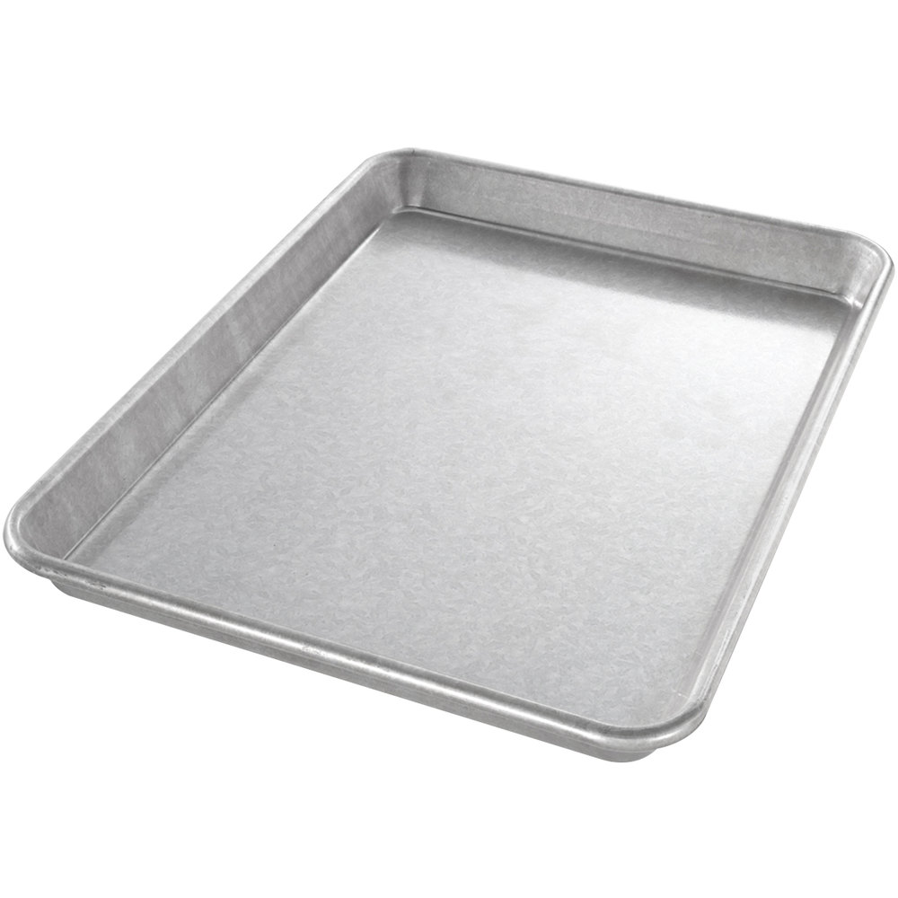 "Chicago Metallic 20900 22 Gauge Glazed Aluminized Steel Jelly Roll Pan - 9"" x 12 1/2"""
