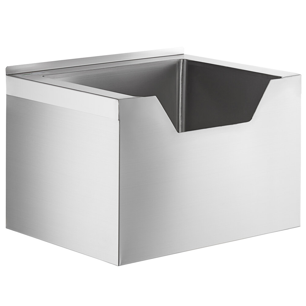 Regency 16-Gauge Stainless Steel One Compartment Floor Mop Sink with Notched Front - 20 inch x 16 inch x 12 inch Bowl