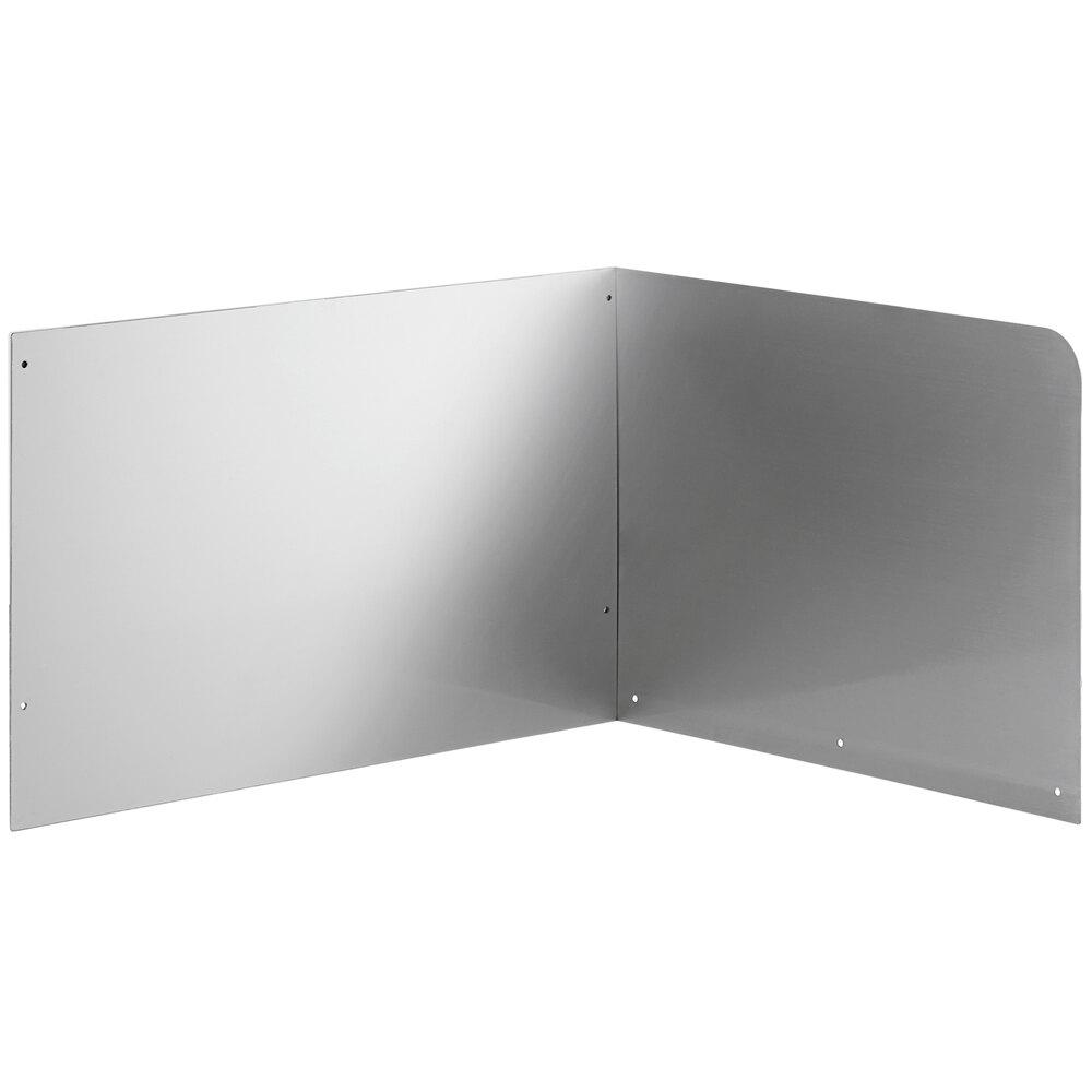 Regency 15 inch High Stainless Steel Mop Sink Backsplash and Right Side Splash for 20 inch x 16 inch Mop Sink
