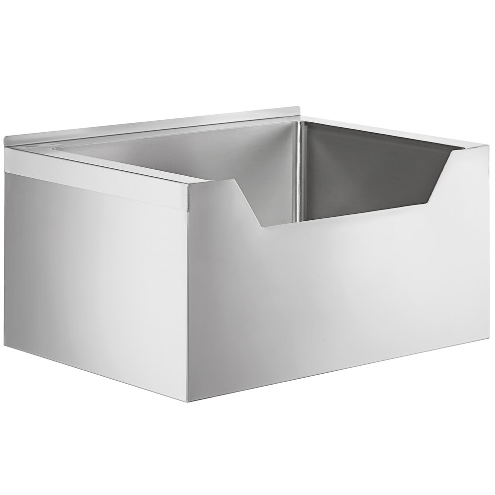 Regency 16-Gauge Stainless Steel One Compartment Floor Mop Sink with Notched Front - 28 inch x 20 inch x 12 inch Bowl