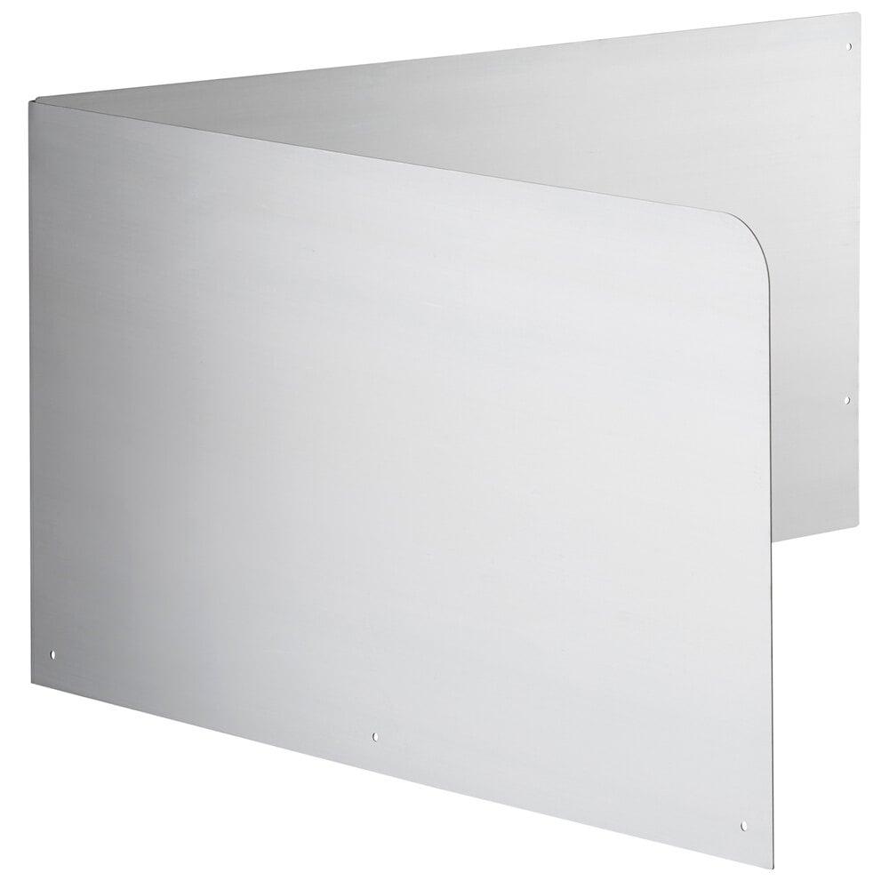 Regency 15 inch High Stainless Steel Mop Sink Backsplash and Left Side Splash for 24 x 24 inch Mop Sink