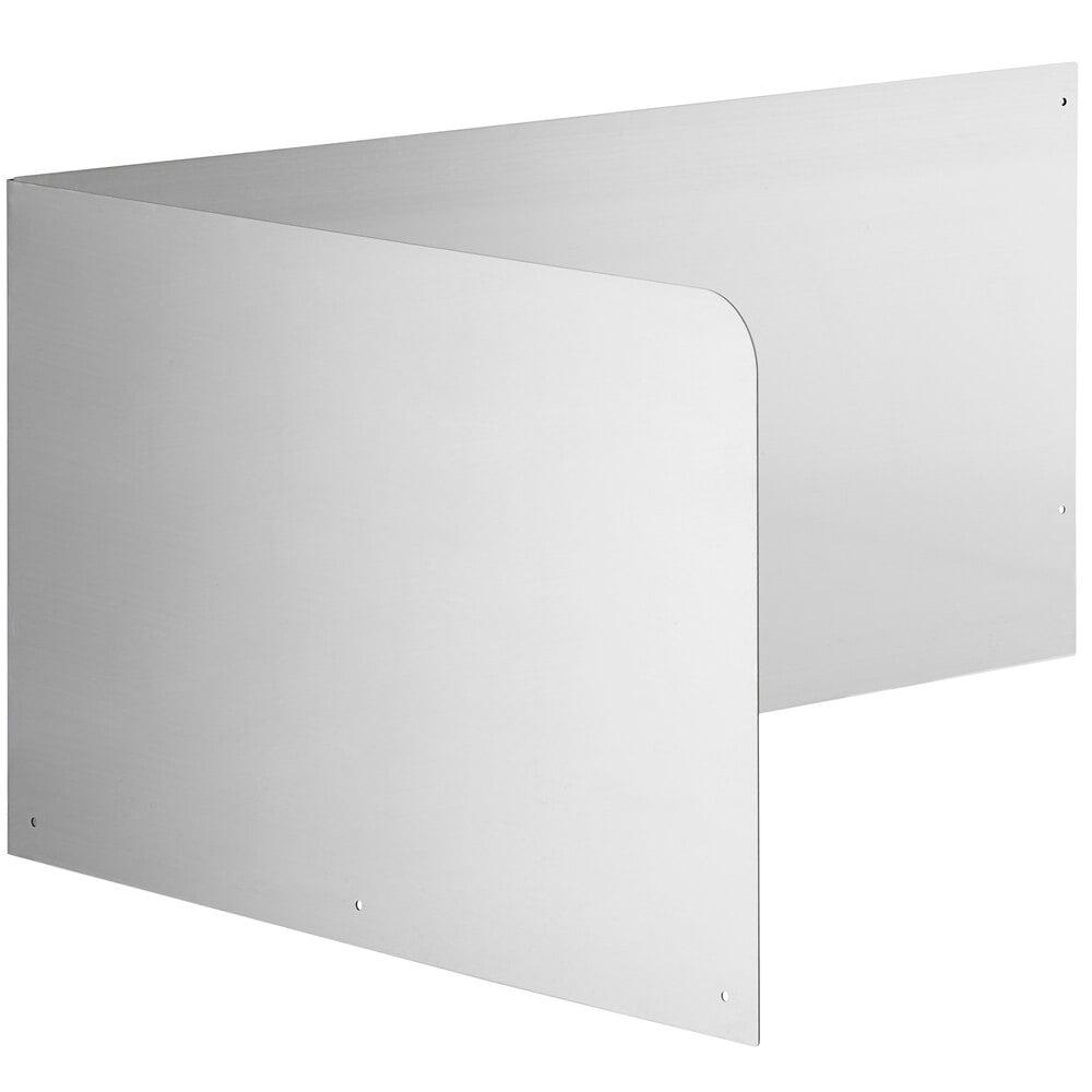 Regency 15 inch High Stainless Steel Mop Sink Backsplash and Left Side Splash for 28 inch x 20 inch Mop Sink