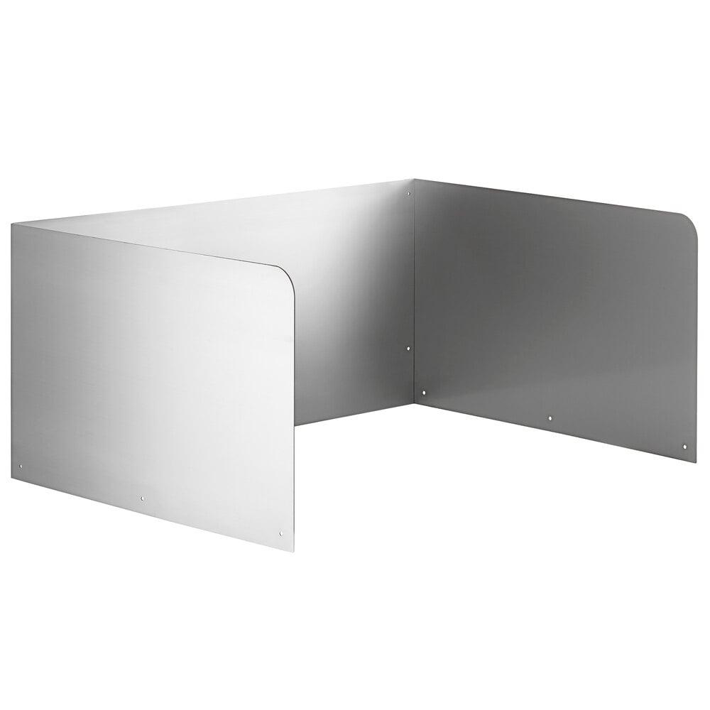 Regency 15 inch High Stainless Steel Three Sided Splash for 28 inch x 20 inch Mop Sink